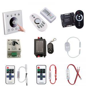 Контроллеры и аксессуары для одноцветных светодиодных лент