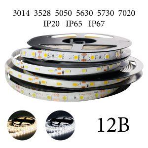 Одноцветные светодиодные ленты 12В и аксессуары