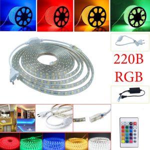 Светодиодные ленты RGB и аксессуары 220В