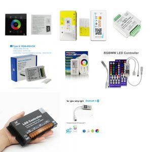 Контроллеры и аксессуары для светодиодных лент RGBW(C)