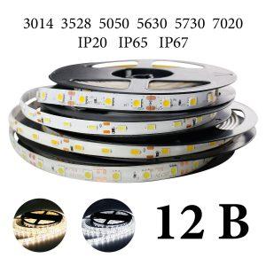 Одноцветные светодиодные ленты 12В